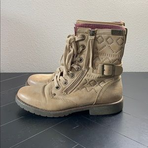 Rich combat boots